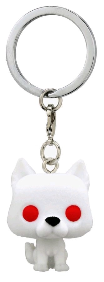 Game of Thrones - Ghost Flocked US Exclusive Pocket Pop! Keychain