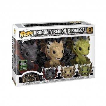 Game of Thrones - Dragons in Eggs Pop! Vinyl 3pk ECCC 2020
