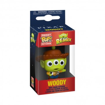 Pixar - Alien Remix Woody Pocket Pop! Keychain