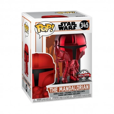 Star Wars: The Mandalorian - Mandalorian Red Metallic US Exclusive Pop! Vinyl