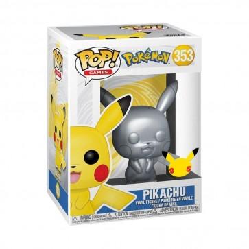 Pokemon - Pikachu Silver Metallic 25th Anniversary Pop! Vinyl