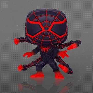 Marvel's SpiderMan: Miles Morales - Programmable Matter Suit Glow US Exclusive Pop! Vinyl