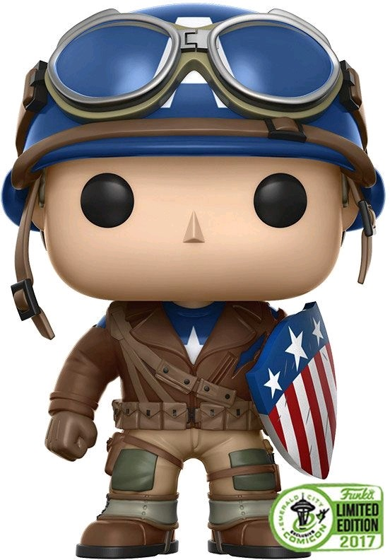 Captain America - Captain America WWII ECCC 2017 US Exclusive Pop! Vinyl
