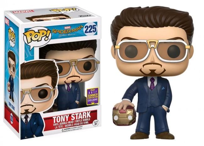 SpiderMan: Homecoming - Tony Stark w/Helmet Pop! Vinyl SDCC 2017
