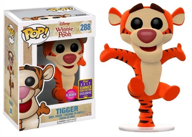 Winnie The Pooh Tigger Bouncing Flocked Pop Vinyl Sdcc