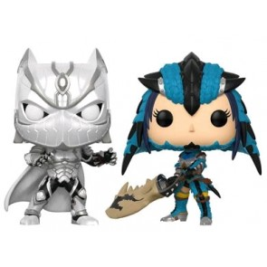 Marvel vs Capcom - Black Panther & Monster Hunter Pop! Vinyl 2-pack