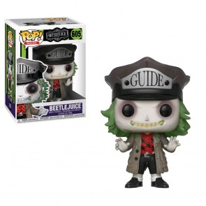 Beetlejuice - Beetlejuice with Guide Hat Pocket Pop! Keychain
