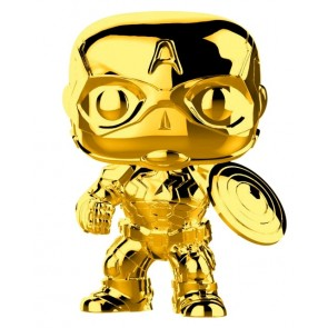 Marvel Studios 10th Anniversary - Captain America Gold Chrome Pop! Vinyl