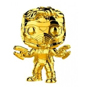 Marvel Studios 10th Anniversary - Star-Lord Gold Chrome US Exclusive Pop! Vinyl