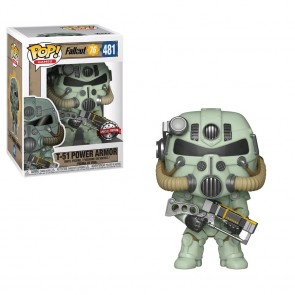 Fallout 76 - T-51 Power Amor (Green) US Exclusive Pop! Vinyl