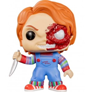 Child's Play - Chucky Half Battle Damaged US Exclusive Pop! Vinyl