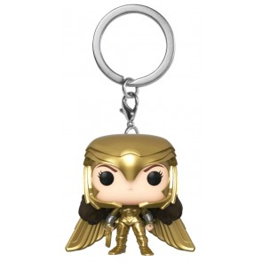 Wonder Woman: 1984 - Wonder Woman Gold Power Pose Pocket Pop! Keychain