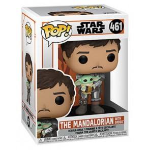 Star Wars: The Mandalorian - Mandalorian with Grogu Pop! Vinyl