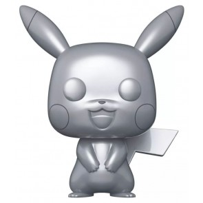 "Pokemon - Pikachu Silver Metallic 25th Anniversary 10"" US Exclusive Pop! Vinyl"