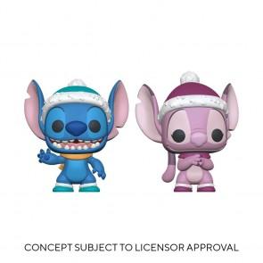 Lilo & Stitch - Winter Stitch & Angel US Exclusive Pop! Vinyl 2-Pack