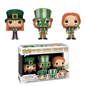 Harry Potter - Ginny, Fred & George Weasley World Cup Pop! Vinyl 3-Pack ECCC 2019