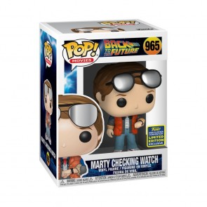 Back to the Future - Marty checking watch Pop! Vinyl SDCC 2020