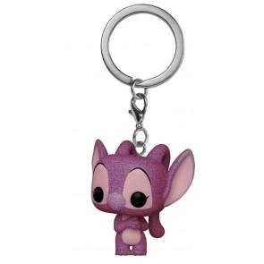 Lilo & Stitch - Angel Diamond Glitter US Exclusive Pocket Pop! Keychain