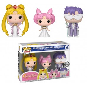 Sailor Moon - Neo Queen Serenity Small Lady & King Endymion 3-Pack US Exclusive Pop! Vinyl