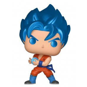 Dragon Ball Z - SSGSS Goku w/Kamehameha Metallic Pop! Vinyl