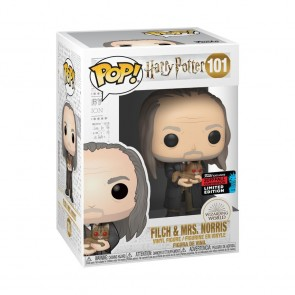 Harry Potter - Filch & Mrs Norris Yule Pop! Vinyl NYCC 2019