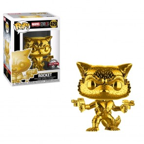 Marvel Studios - 10th Anniversary Rocket Raccoon Gold Chrome US Exclusive Pop! Vinyl