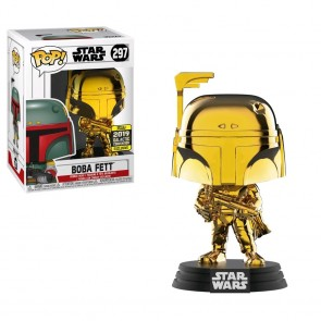 Star Wars - Boba Fett Gold Chrome SW19 Pop! Vinyl