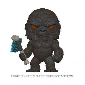 Godzilla vs Kong - Kong with Battle Axe Flocked US Exclusive Pop! Vinyl